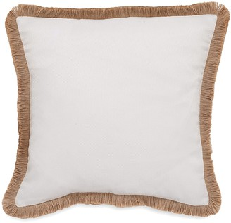 Southern Tide Sandbar Stripe Raffia Trim Decorative Pillow