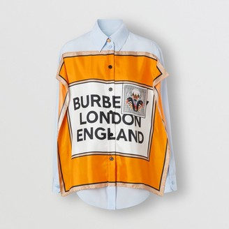 Burberry Montage Print Silk Shirt