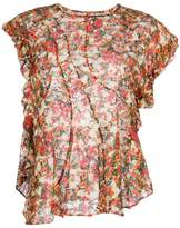 Isabel Marant floral ruffled blouse