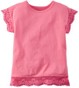 Carter's Embroidered Lace Tee