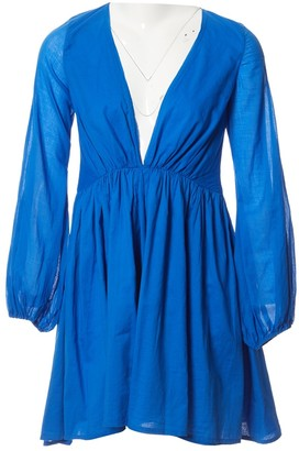 Kalita Blue Cotton Dress for Women
