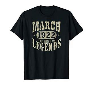 IDEA 98 Years 98th Birthday Gift March 1922 Birth of Legend T-Shirt