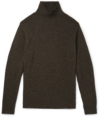 Caruso Melange Wool And Cashmere-Blend Mock-Neck Sweater