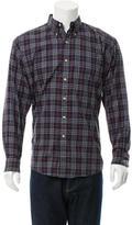Burberry Check Print Button-Down Shirt