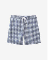 Express boat print swim shorts