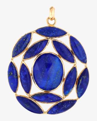Ashley Morgan Marquise Lapis Lazuli Pendant Necklace