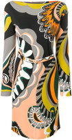 Emilio Pucci printed slash neck mini dress