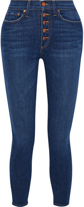 Alice + Olivia Good Times Cropped High-rise Skinny Jeans