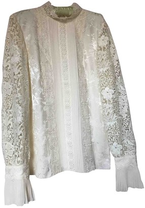 Erdem X H&m White Silk Top for Women