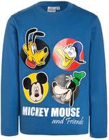 Disney MICKEY MOUSE Long sleeved top mittelblau