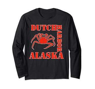 Fishing For The Deadliest King Crabs Gift Catch Alaska Crab Long Sleeve T-Shirt