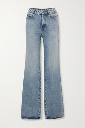 Ksubi Kicker Jinx High-rise Wide-leg Jeans - Mid denim