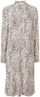 Chloé Abstract Print Silk Dress
