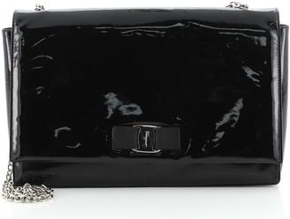 Salvatore Ferragamo Miss Vara Bow Crossbody Bag Patent Large