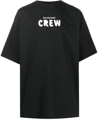 Balenciaga Crew print oversized T-shirt