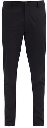 Burberry Shibden Straight-leg Cotton-twill Trousers - Black