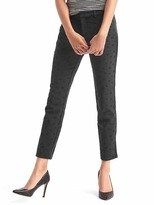Gap Jacquard skinny ankle pants