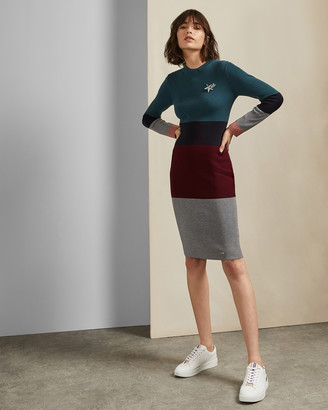 Ted Baker FRANAE Ribbed knitted dress