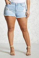 Forever 21 FOREVER 21+ Plus Size Distressed Shorts