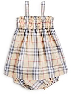 Burberry Girls' Joan Vintage Check Dress & Bloomers Set - Baby