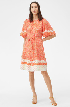 Rebecca Taylor Block Print Mix Silk Jacquard Dress
