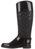 Gucci Rubber GG Knee-High Boots