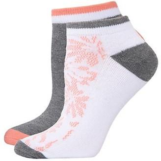 Natori Floral 4-Pack Half-Cushion No-Show Socks