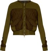Haider Ackermann Perth cropped bomber jacket