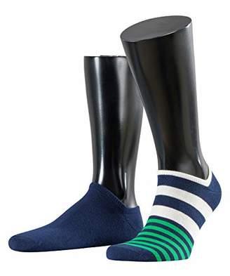 Esprit Men's Mixed Stripe Ankle Socks,(Pack of 2)