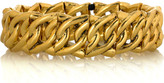Gold-plated chain link cuff