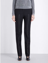 Jil Sander Striped straight wool and mohair-blend trousers
