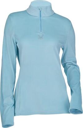 Spyder Active Sports Women's Standard Shimmer Bug Long Sleeve Half Zip T-Neck Fleece Top