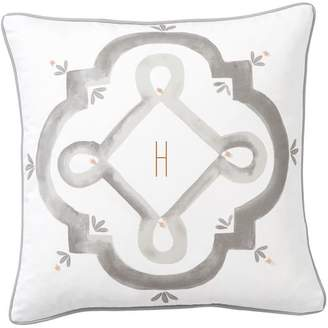 Pottery Barn Teen Preppy Painted Monogram Pillow Cover, 16&quotx16&quot, Pool