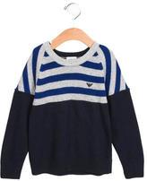 Armani Junior Boys' Striped Long Sleeve Sweater