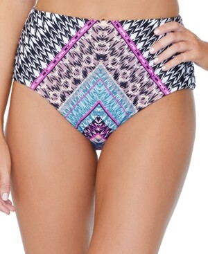 Thumbnail for your product : Raisins Juniors' Wild About You Printed High-Waist Florida Bikini Bottoms, Created for Macy's Women's Swimsuit