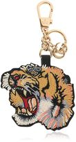 Gucci Embroidered Tiger Gg Supreme Key Holder