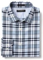 Banana Republic Grant-Fit Non-Iron Blue Checkered Shirt