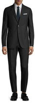 Gucci Wool Black Solid Notch Lapel Suit