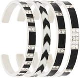 Saint Laurent Grommet bracelet set