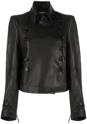 Ann Demeulemeester Matte Double-Breasted Jacket