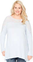 Wendy Bellissimo Plus Size Lace-Paneled Top