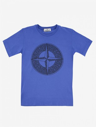 Stone Island Junior T-shirt With Short Sleeves And Logo