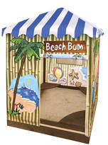 Badger Basket Beach Bum Covered Sandbox Playhouse