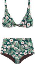 Mara Hoffman Printed Bikini - Army green