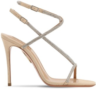 Aquazzura 105mm Embellished Leather Sandals