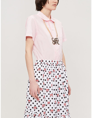 Comme des Garcons Short-sleeved cotton-poplin shirt