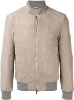 Eleventy zip up bomber jacket - men - Suede/Cotton - 54