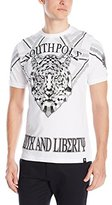Southpole Men's Foil and Screen Print Graphic T-Shirt with Tiger Face