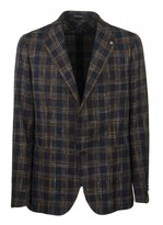 Tagliatore Two-button Plaid Jacket Blazer