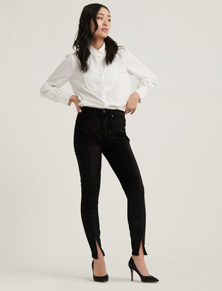 High Rise Bridgette Skinny Velvet Jean
